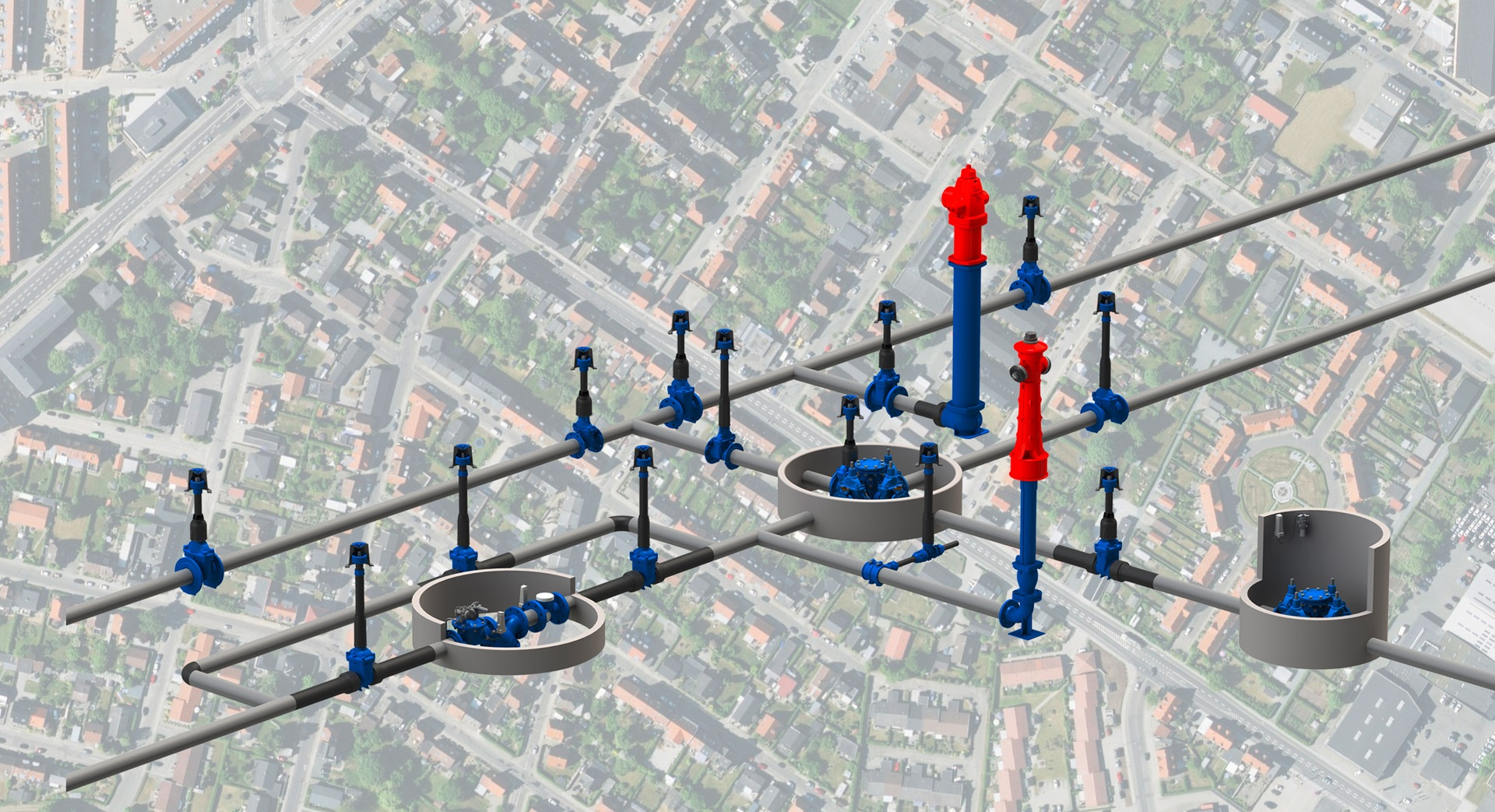 A smart network with AVK Smart Water solutions for a digitised water distribution