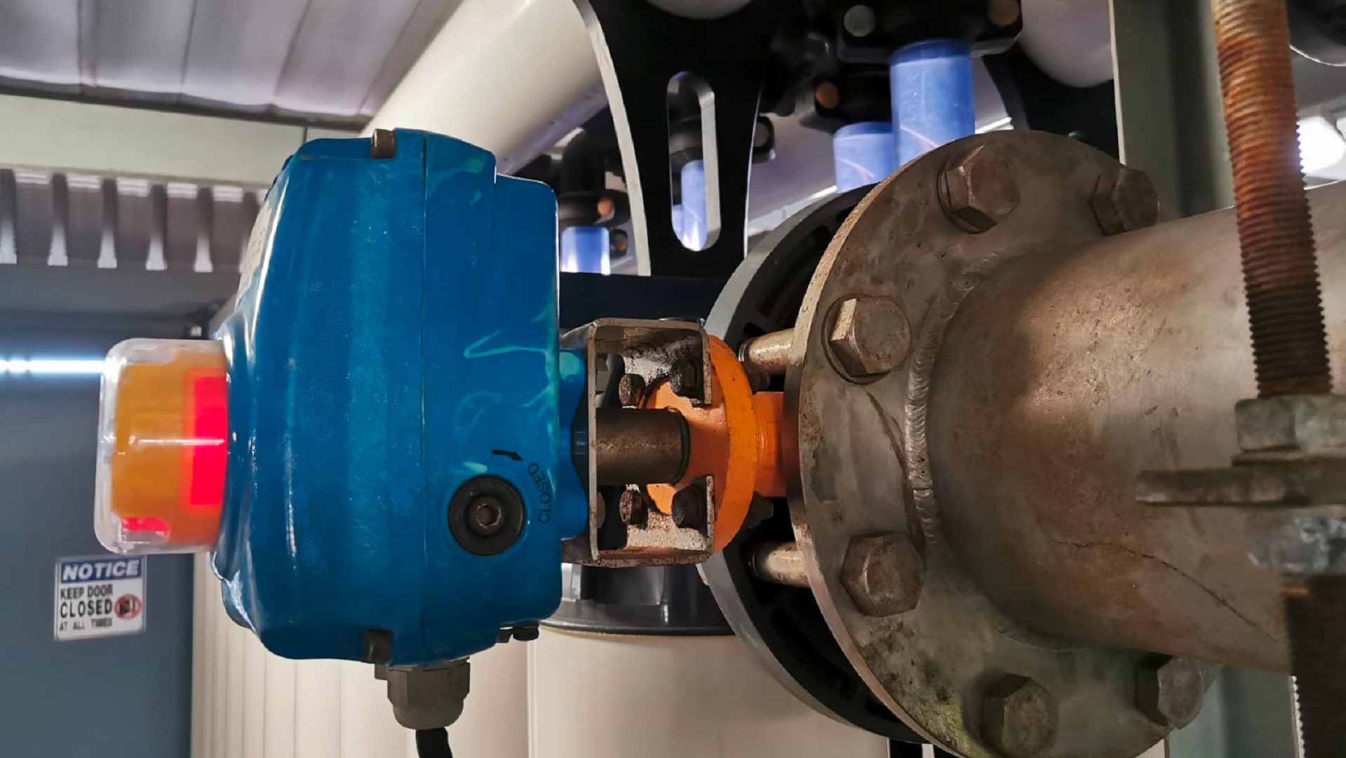 The Wouter Witzel butterfly valve installed at the water reclamation plant
