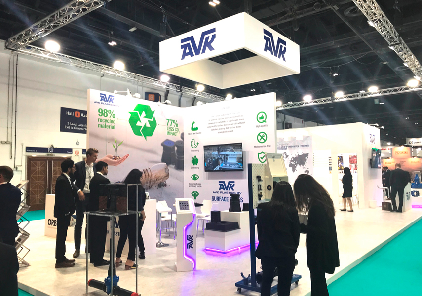 The AVK stand at WETEX